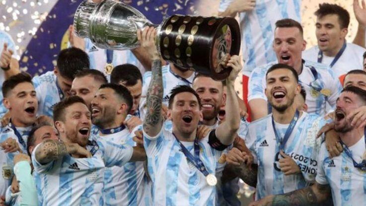 Alegría tras ganar la Copa América