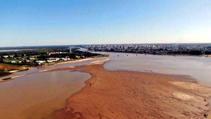 El río Paraná con una sequía histórica