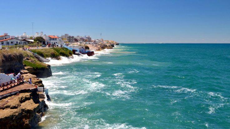 La playa de Las Grutas