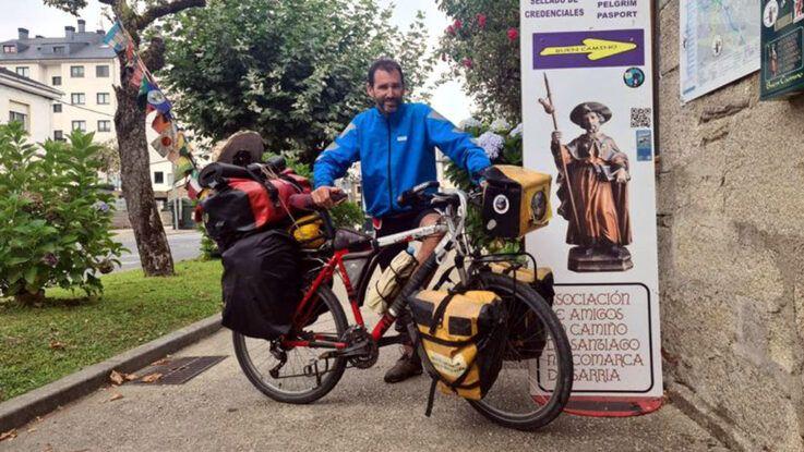 Pablo García hace el Camino de Santiago para completar la vuelta al mundo