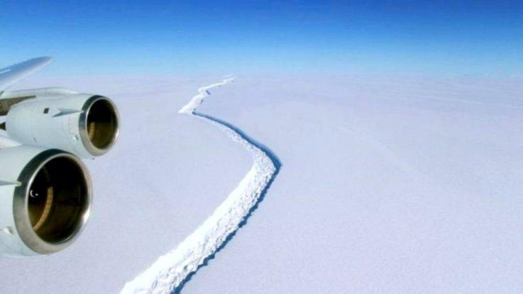 Ruptura de un iceberg gigante