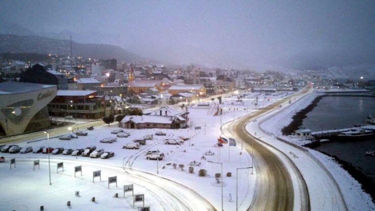 Ushuaia recibió la primera gran nevada